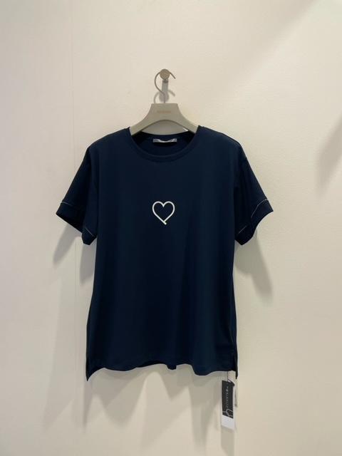 2021春夏新商品 Blanc vert ハートプリント・Tシャツ